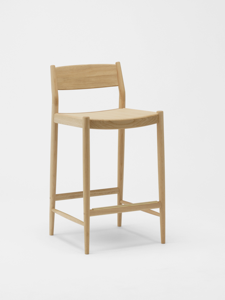 N-BS01 Barstool Low - Oak