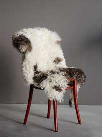 Curly Sheepskin - Brown White