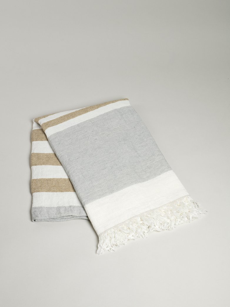 The Belgian Towel - Ash Stripe