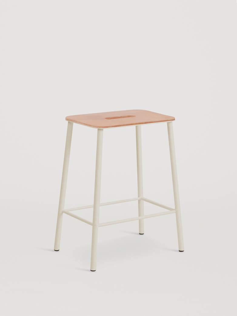 Adam Stool Leather - Sand