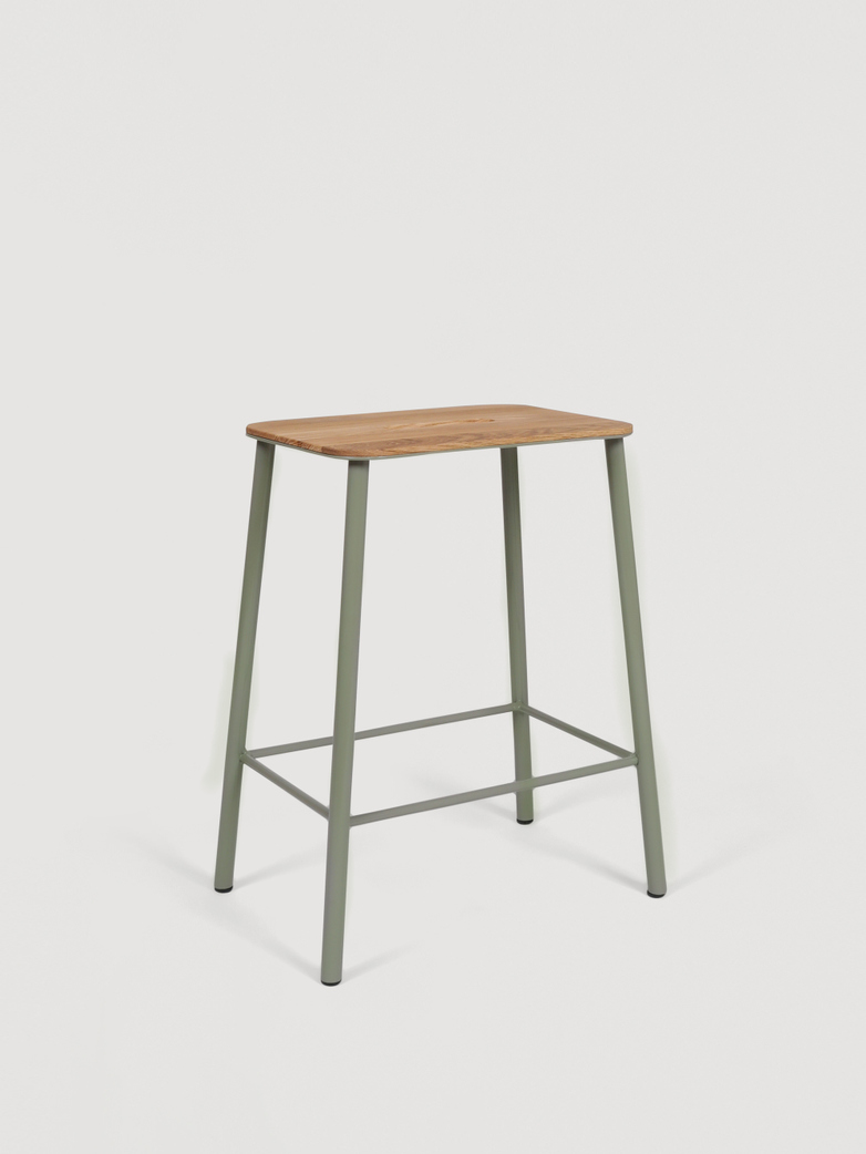 Adam Stool Oak - Sill Green