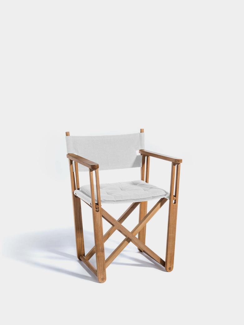 Kryss Dining Chair - Teak/Canvas White