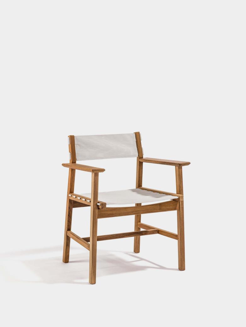 Djurö Dining Armchair - Teak/White