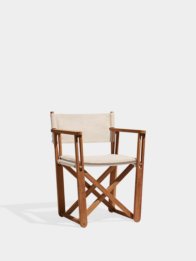 Kryss Lounge Chair - Teak/Beige