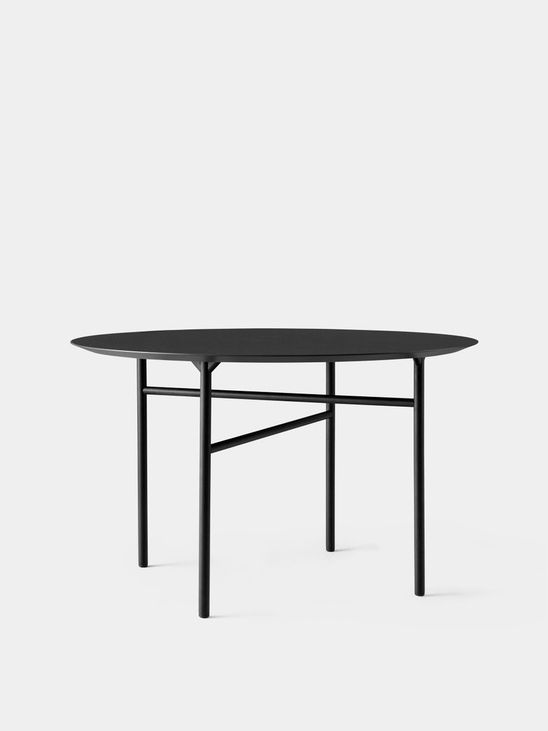 Snaregade Dining Table Round - Charcoal Linoleum