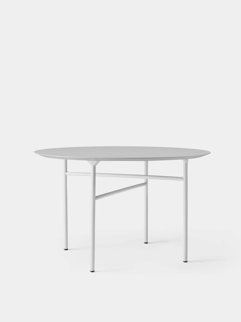 Snaregade Dining Table Round - Mushroom Linoleum