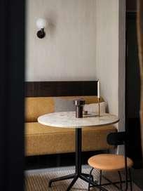 Harbour Column Dining Table Star Base - Kunis Breccia Stone