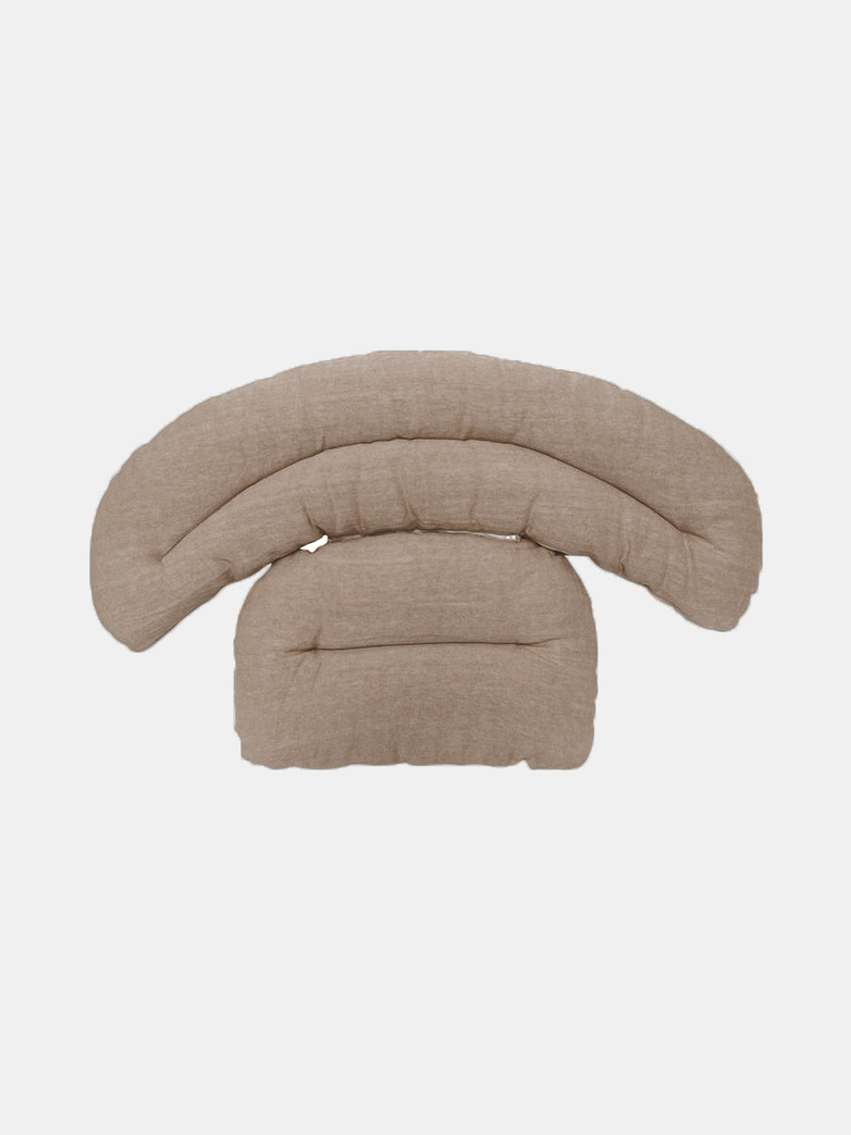 Roly Poly Cushion for Armchair - Light Brown