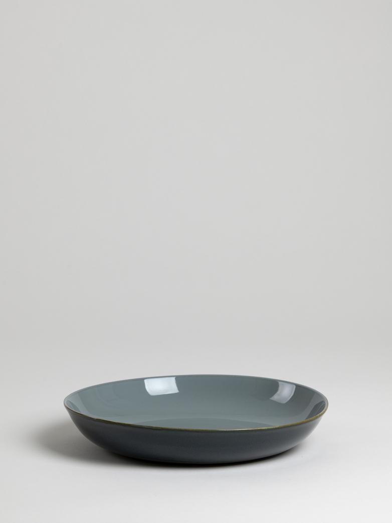 Terres de Rêves - Pasta Plate - Smokey Blue/Dark Grey