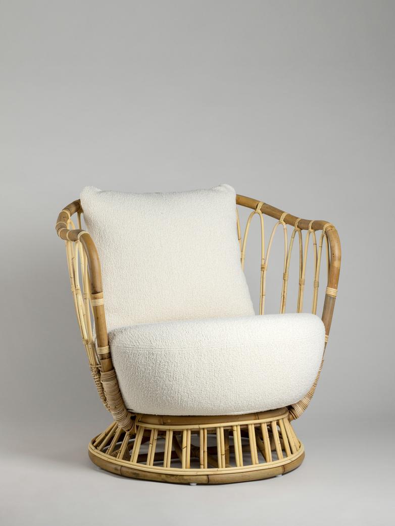Grace Lounge Chair - Bouclé Cream