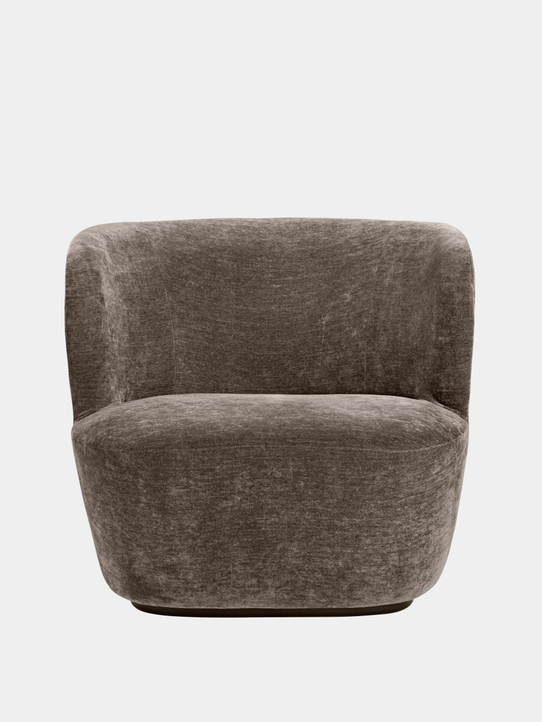 Stay Lounge Chair Large - Belsuede 014/Black Base