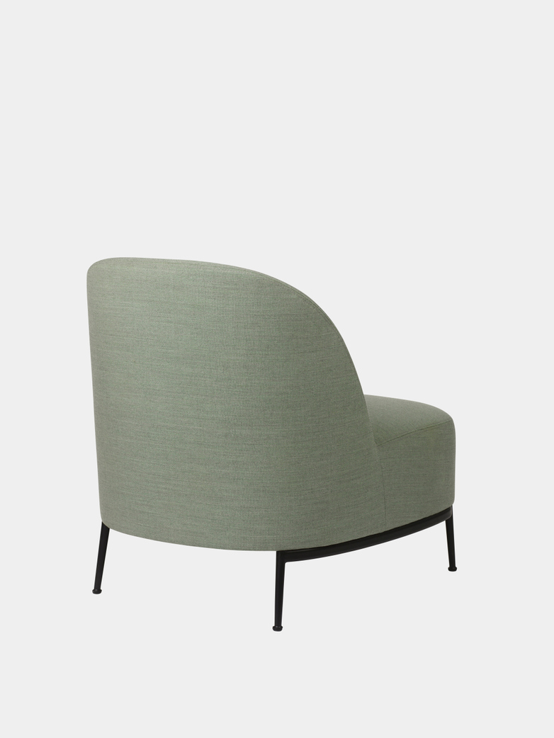 Sejour Lounge Chair - Crisp/Black Base