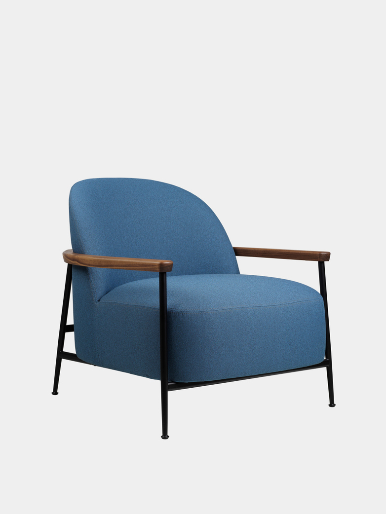 Sejour Lounge With Armrest - Walnut