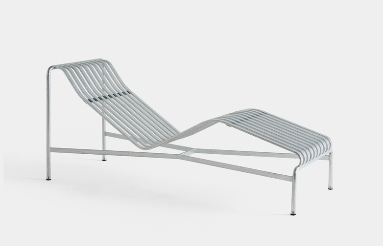 Palissade Chaise Lounge - Hot Galvanised