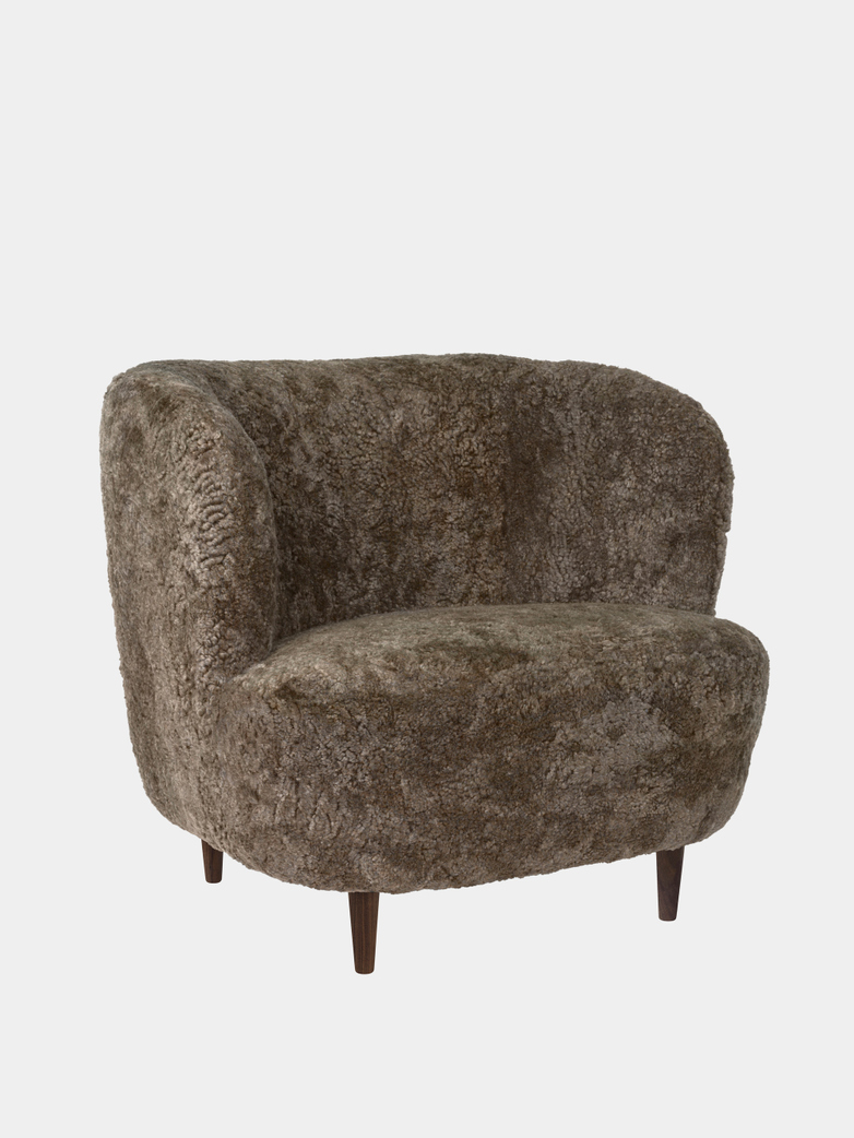 Stay Lounge Chair Large - Sheepskin/Wooden Legs