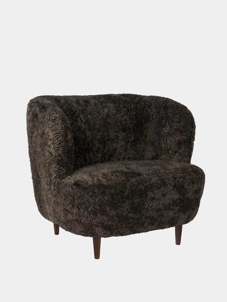 Stay Lounge Chair Large - Sheepskin/Wooden Legs