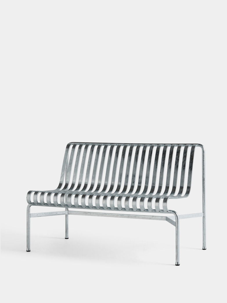 Palissade Dining Bench without Armrests - Hot Galvanized