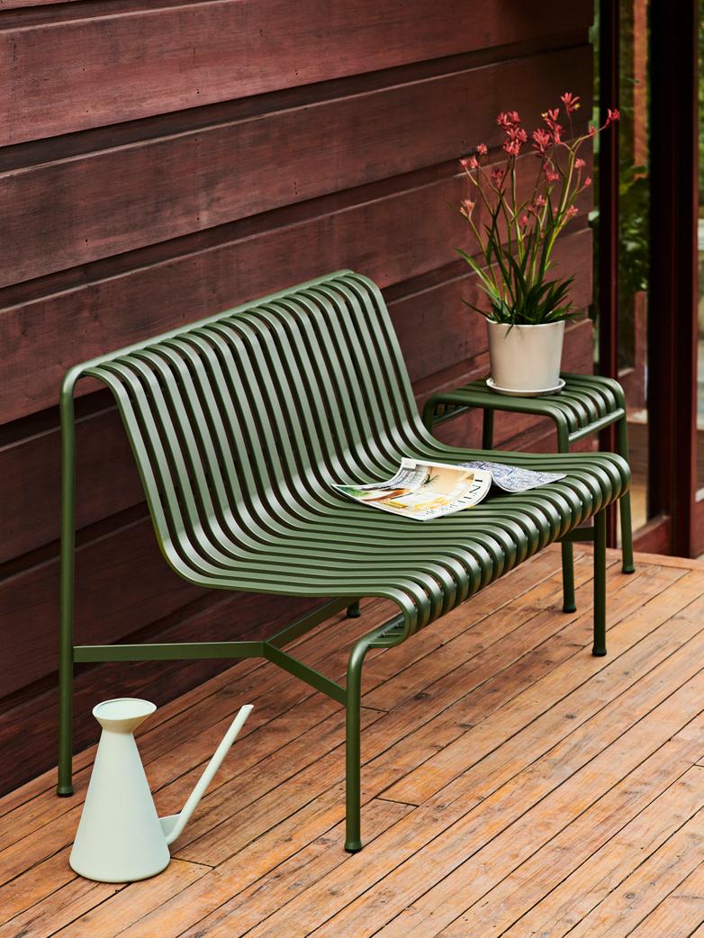 Palissade Dining Bench without Armrests - Olive