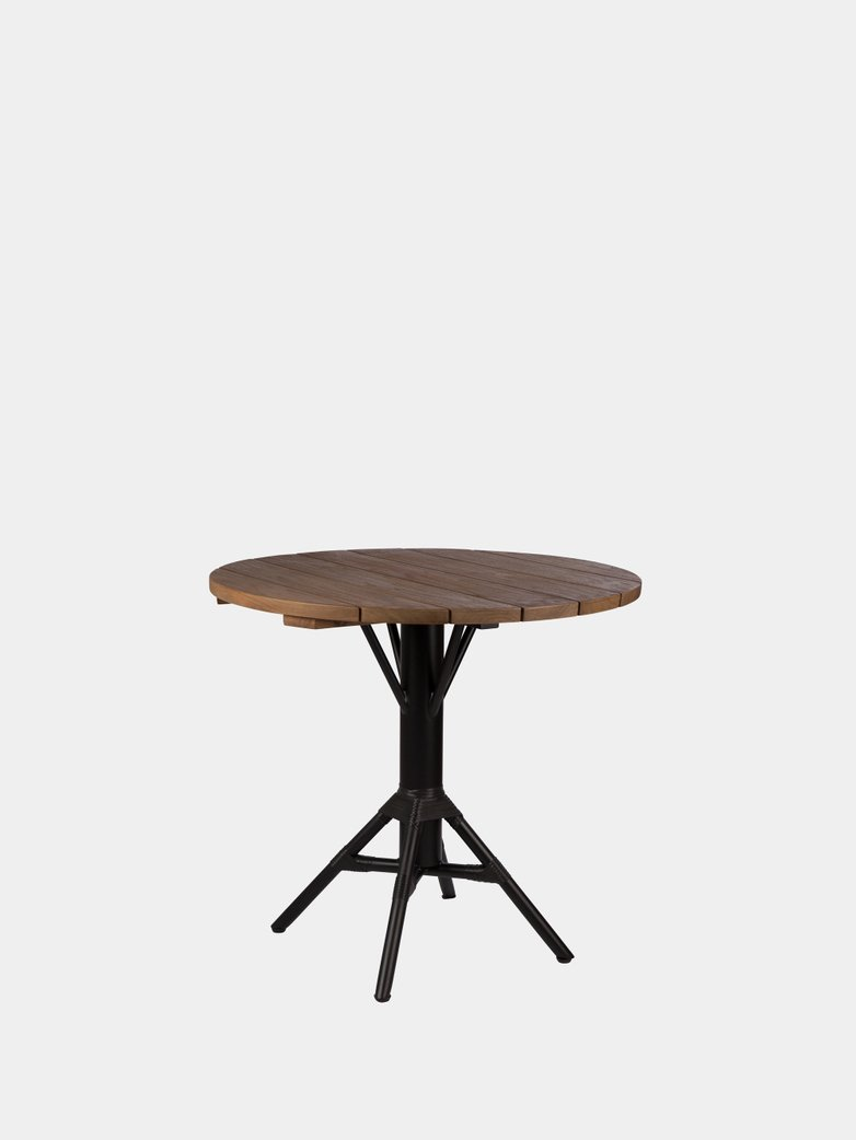Nicole Cafe Table 80 cm - Teak/Black Base