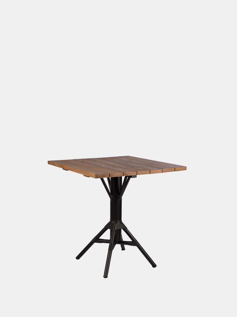 Nicole Cafe Table 70x70 cm - Teak/Black Base