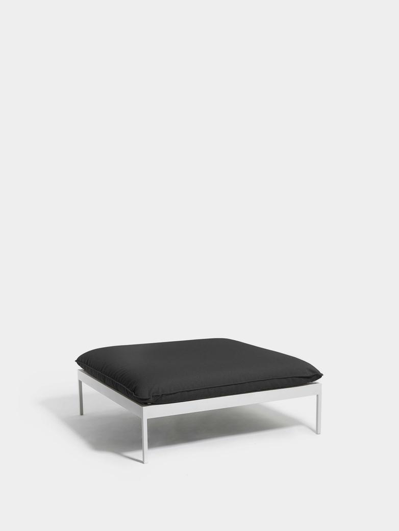 Bönan Lounge Ottoman - Light Grey Frame/Dark Grey Sling