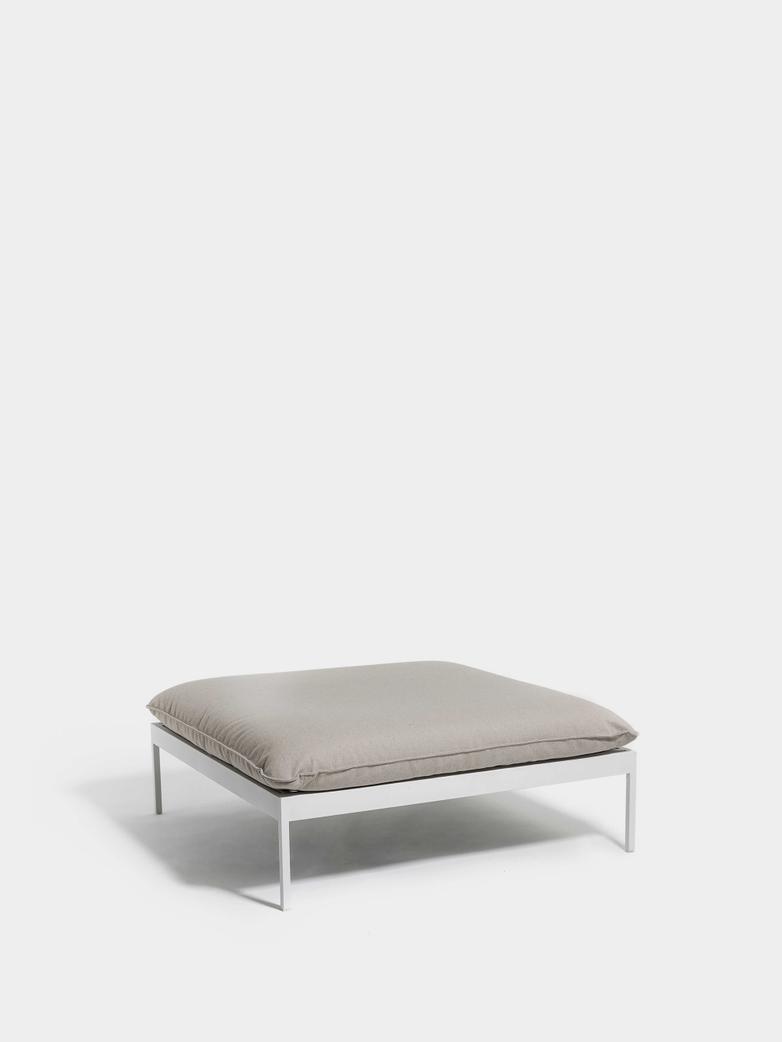 Bönan Lounge Ottoman - Light Grey Frame/Light Grey Ashe