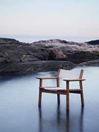 Djurö Lounge Armchair - Teak/White