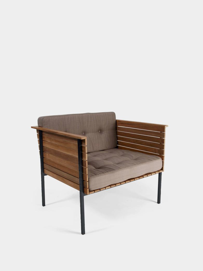 Häringe Lounge Chair - Black Frame/Heather Chine
