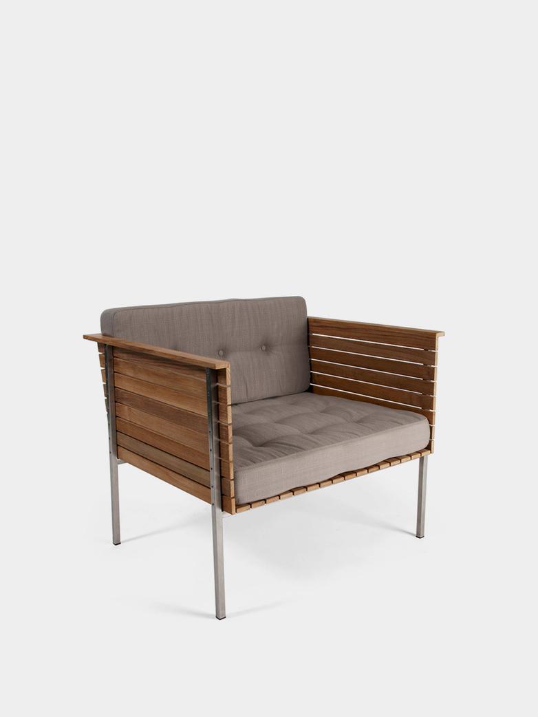 Häringe Lounge Chair - Steel Frame/Nature Grey