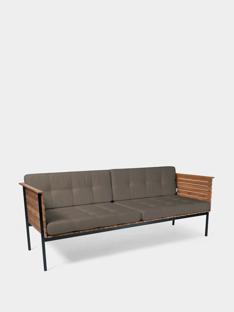 Häringe Lounge Sofa - Black Frame/Heather Chine