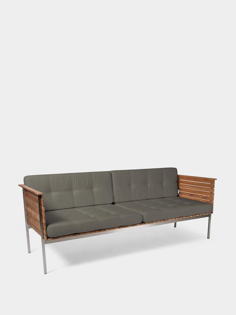 Häringe Lounge Sofa - Steel Frame/Nature Grey