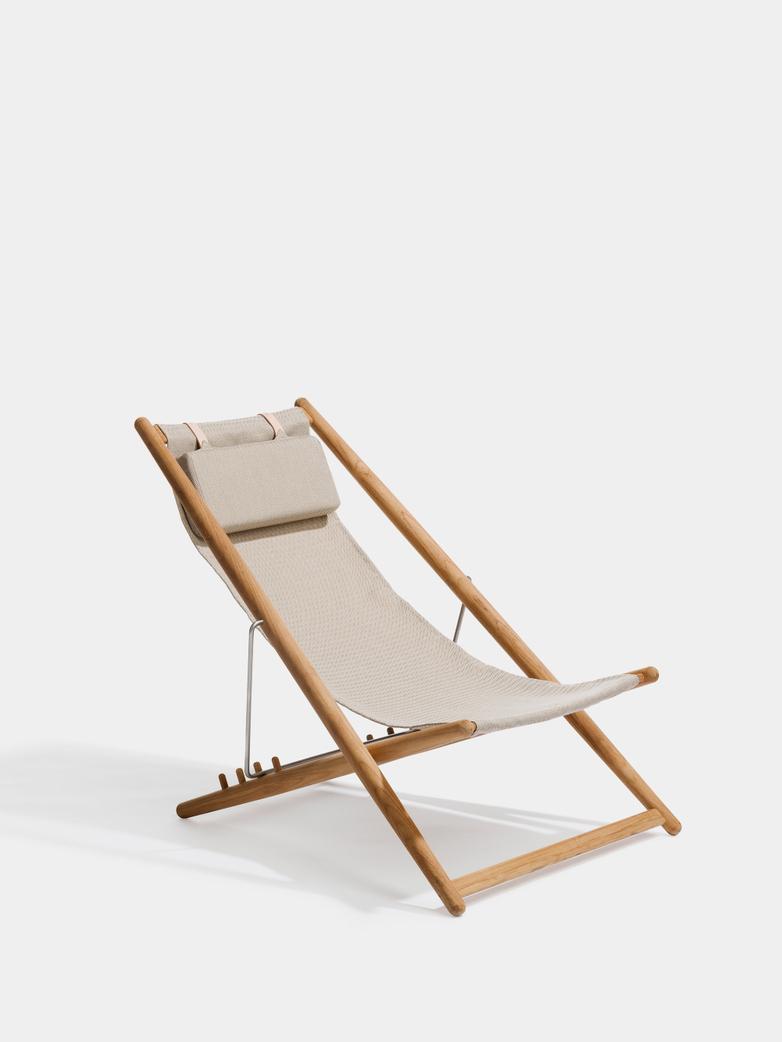 H55 Lounge Chair - Teak/Light Grey