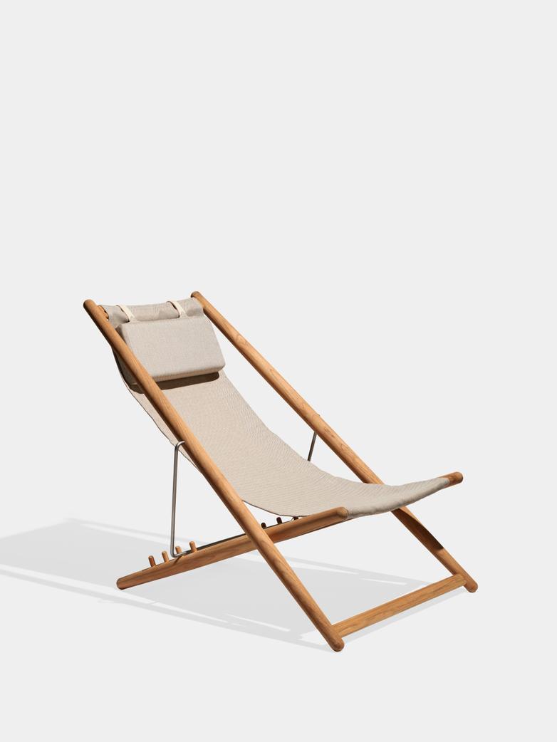 H55 Lounge Chair - Teak/Beige