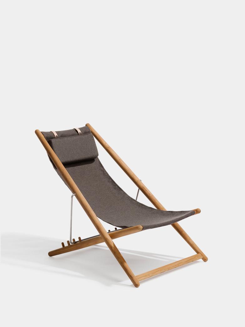 H55 Lounge Chair - Teak/Dark Grey