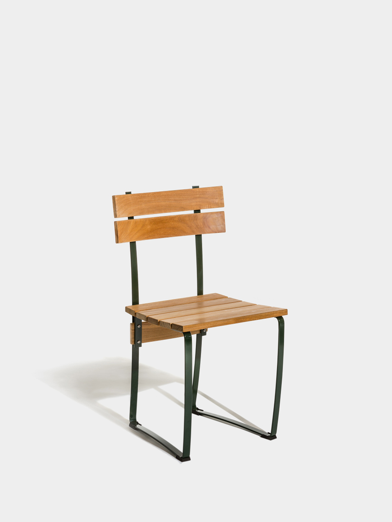 Kerteminde Chair - Teak/Green