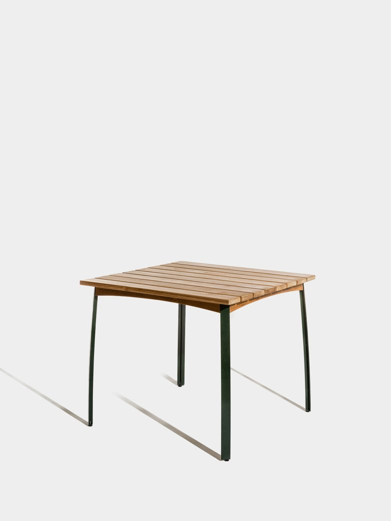 Kerteminde Table 80 cm - Teak/Green