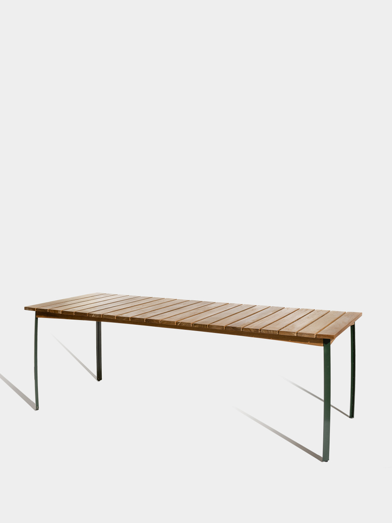 Kerteminde Table 200 cm - Teak/Green