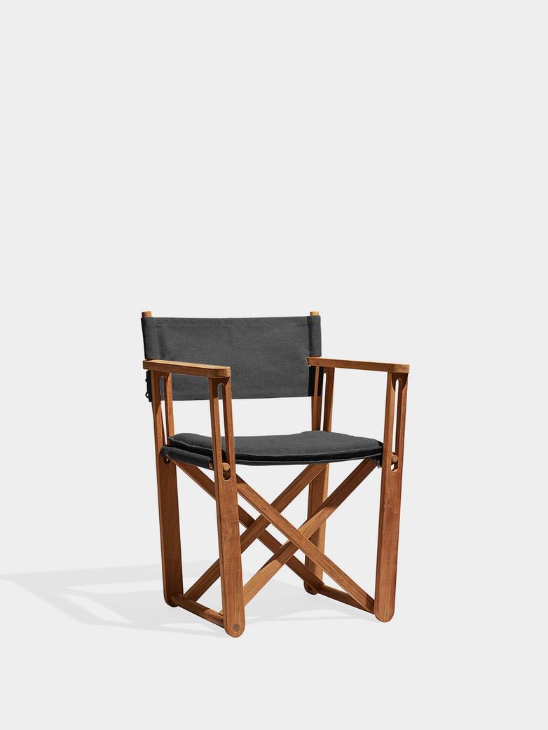 Kryss Lounge Chair - Teak/Dark Grey
