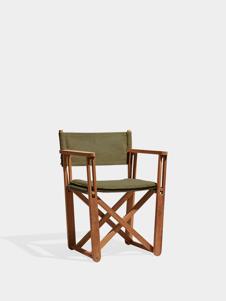 Kryss Lounge Chair - Teak/Green