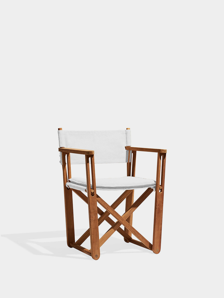 Kryss Lounge Chair - Teak/Canvas White
