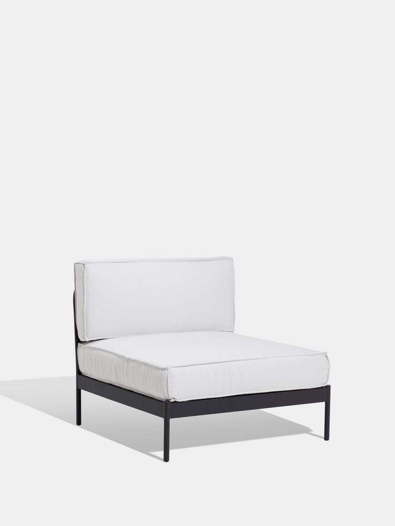 Lidö Sofa Mid Section - Silver Grey Cushions