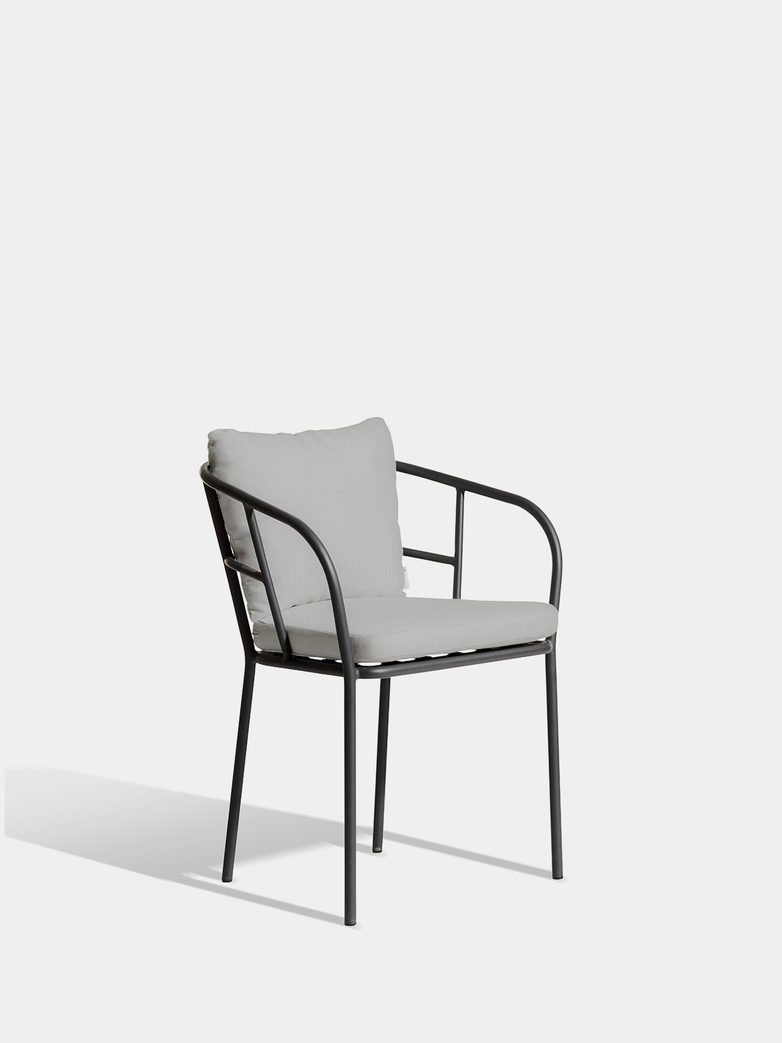 Saltö Dining Chair - Charcoal Grey Frame/Silver Grey