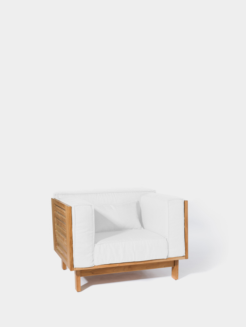 Skanör Lounge Chair - Teak/White