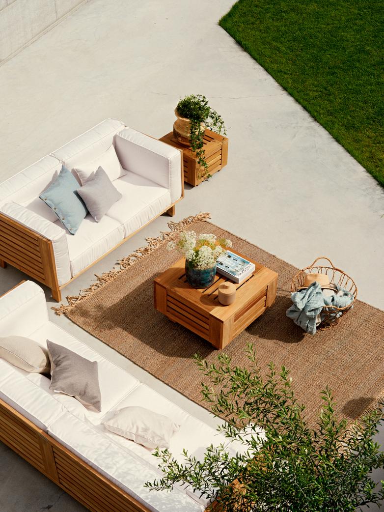 Skanör 3-Seater Sofa - Teak/White