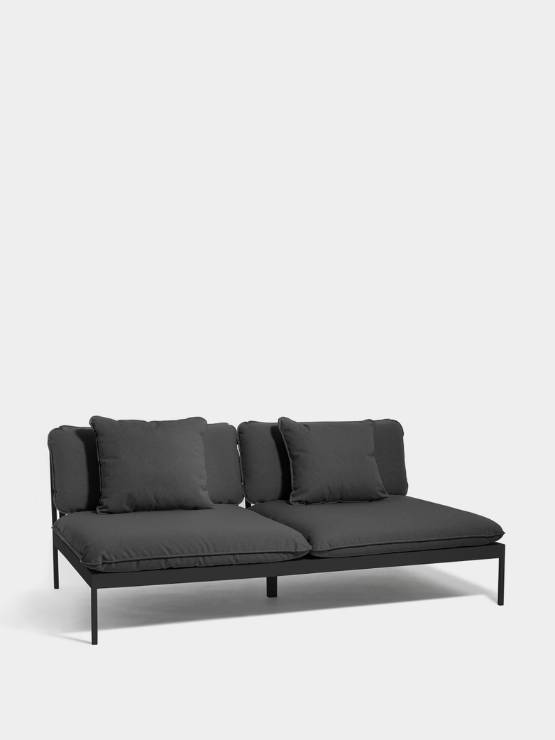 Bönan Lounge Sofa - Dark Grey Frame/Light Grey Sling