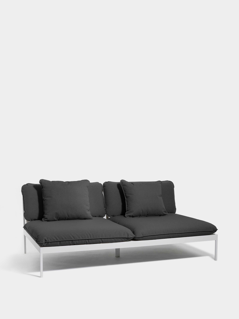 Bönan Lounge Sofa - Dark Grey Frame/Light Grey Sling