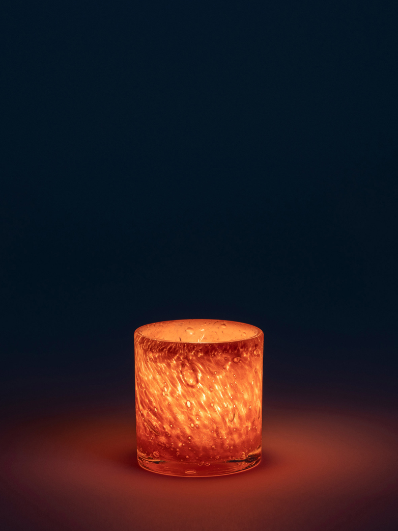 Belle Candle Holder – Salmon – Small
