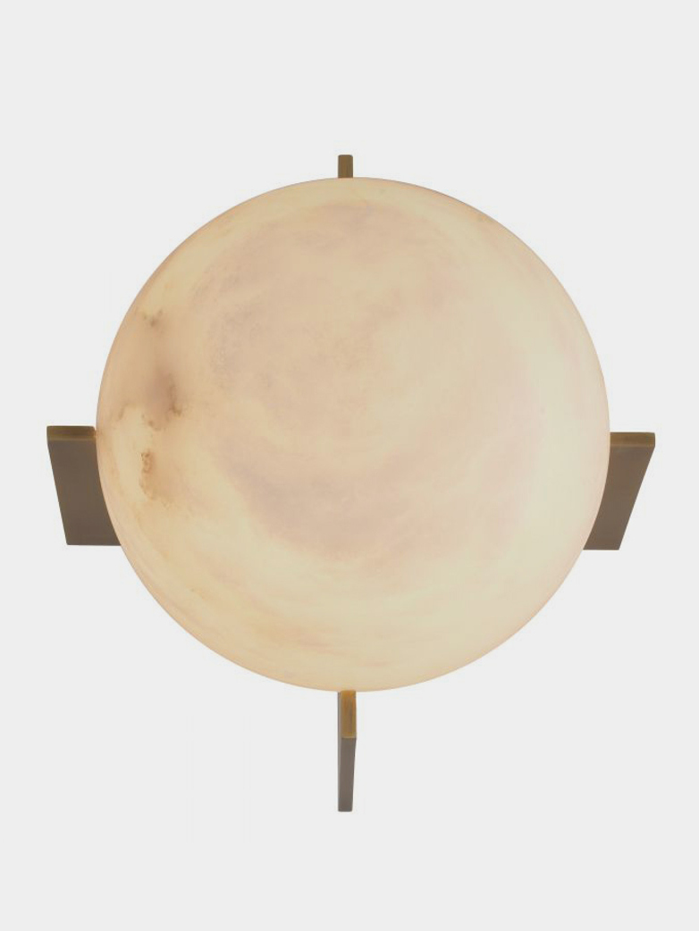 Alabaster Sphere Table Lamp