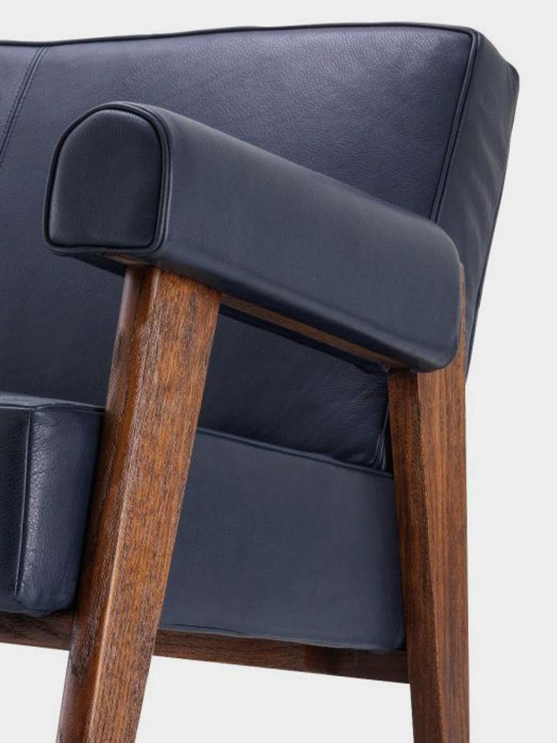 Ceccano Sofa - Blue Leather