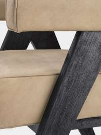 Puglia Dining Chair - Black Oak/Beige nubuck